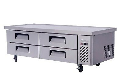 Migali C-cb72 72 Refrigerated Chef Base - 4 Drawers - 24 Pans Free Shipping