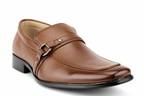 Majestic Men's Designer Horsebit Buckle Leather Lined Slip On Loafer Dress Shoes