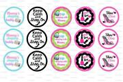 Girly Bottle Cap Images