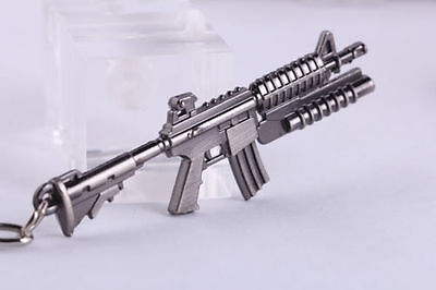 M16 Keychain Model Mini Weapon Weapon Gun Metal Keyring  Key Ring Chain Bag