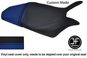 BLACK & ROYAL BLUE VINYL CUSTOM FITS HONDA HORNET CB 600 F 07-12 SEAT COVER ONLY