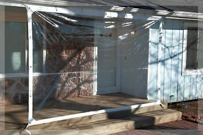 8' x 24' Clear Tarp 24 MIL Clear Vinyl Patio Enclosure Winterize Porch USA Made