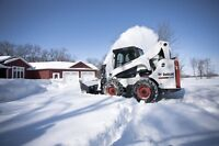 New bobcat S750 with plow/loader/pushbox/snow blower for hire!