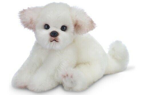 "New BEARINGTON Plush Toy WHITE MALTESE Stuffed Animal PUPPY DOG 13"" Soft"