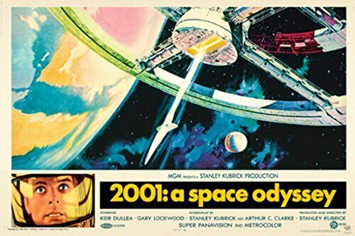 2001: A Space Odyssey Stanley Kubrick Movie Poster Print (24x36)