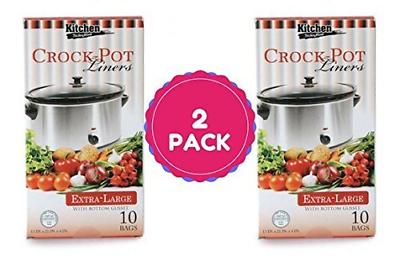 Multi-Use Large Slow Cooker - Crock Pot Liner Bags Fits 7 -