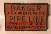 Vintage Warning Sign
