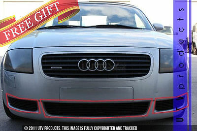 GTG 2000 - 2006 Audi TT and TT Quattro 3PC Gloss Black Overlay Billet Grille Kit