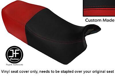 BLACK AND DARK RED VINYL CUSTOM FITS <em>YAMAHA</em> FJ 1100 84 86 DUAL SEAT CO