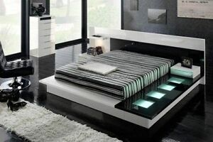 B/W OR R/B Platform Bed Queen or king