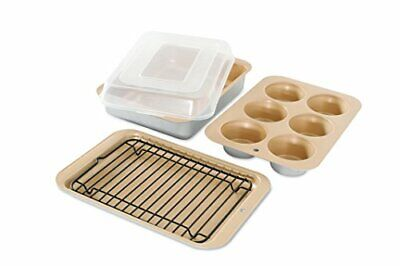 ~Small Toaster-Oven Baking Set Pan Bake Cake Broil Grill Broiler Drain Rack Tray