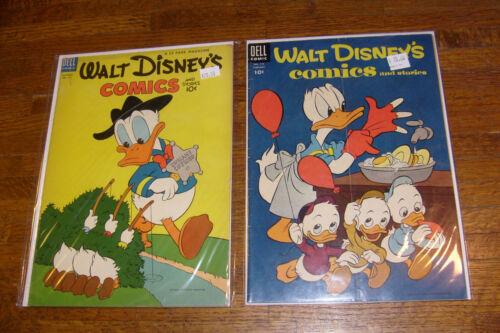 WALT DISNEY COMICS AND STORIES #157 & #173, DELL