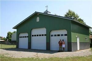 WE BUILD GARAGES, SHOPS, HOUSES, CABINS, RENOS, CONCRETE WORK