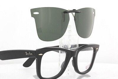 Custom Fit Polarized CLIP-ON Sunglasses For Ray-Ban 5121 50x22 RB5121 - Custom Wayfarer Sunglasses
