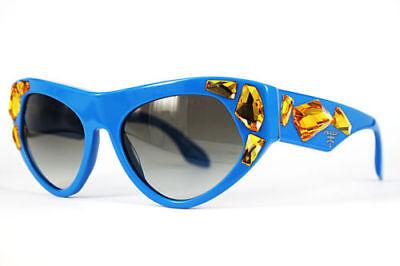 NEU NP 320 € Prada MIU Sonnenbrille new Sunglasses Blau Strass