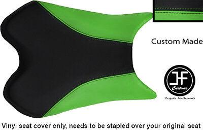 BLACK AND LIGHT GREEN VINYL CUSTOM FOR <em>YAMAHA</em> 1000 YZF R1 FRONT SEAT C