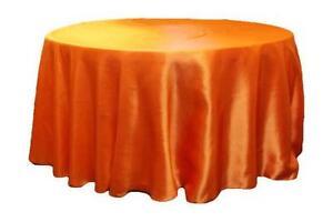 Round Satin Tablecloth