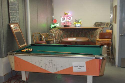 Vintage Pool Table | EBay