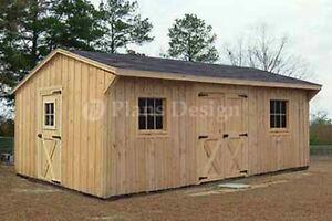 Details About 12u0027 X 18u0027 Garden Structures Saltbox Shed Plans #71218