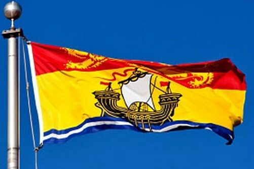 NEW 3x5 ft NEW BRUNSWICK CANADA CANADIAN FLAG better quality USA seller
