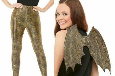 Damen Drachen Maßstab Leggings Kostüm Zubehör Reptil Erwachsene Hinzufügen ()