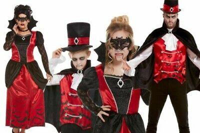 Familie Vampir Kostüme Halloween für Erwachsene & Kinder Kostüm Vampir - Familie Vampir Kostüm