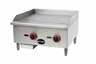 Saba Heavy Duty Commercial 24 Countertop Manual Griddle Mg-24