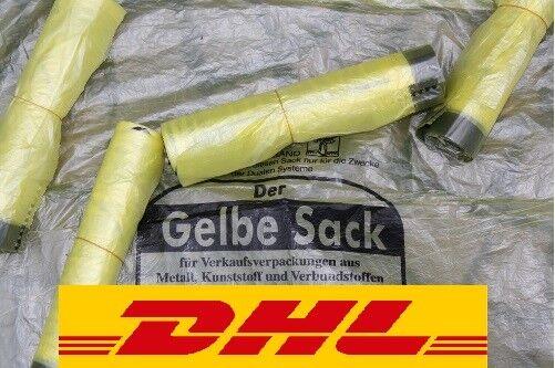 Gelbe Säcke Gelber Sack Müllbeutel Müllsack mit Zugband bis 50 Rollen