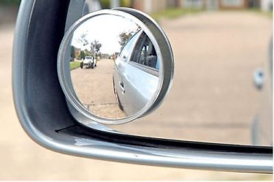 2 x Summit Blind Spot Mirror Round Adhesive 2 Inch Easy Fit Wide View Angle Van