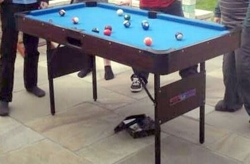 Childs Pool Table, 5 Foot X 30 Inches X 31 Inches Tall When On The