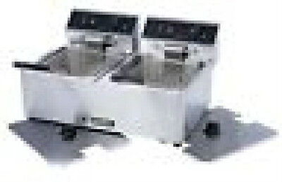 Adcraft Double Fryer Electric Df6l-2 With Lids Excellent Value