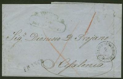 Greece/Ionian Is. 1860 inward cover to KEFALLINIA/Lloyd