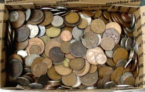 5 POUND LOT OF MIXED FOREIGN COINS, SOME EARLIER DATES INCLUDED  *FREE SHIPPING*