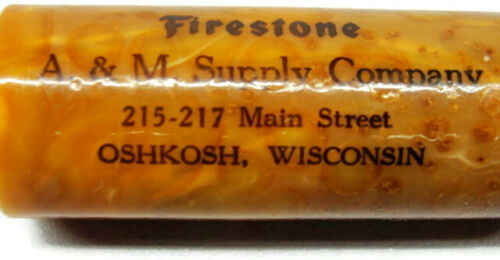 Bakelite Sewing Thread Case Advertising A&M Supply Company Firestone Wisconsin
