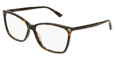 Gucci Eyewear GG0025O 009 58 Havana GG 0025O Eyewear Optical (Gucci Eyewear Womens)