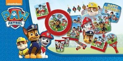 Paw Patrol Party Pack - Tableware, Decorations, Game, Party Bags