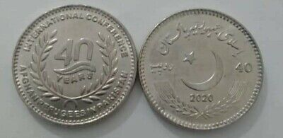 "Pakistan 2020 Rs 40 Coin ""40 Years of Afghan Refugees in Pakistan"" UNC"