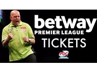 Premier League Darts -Front Table Tickets - Nottingham Motorpoint Arena 09.02.17 Best Seats in Arena