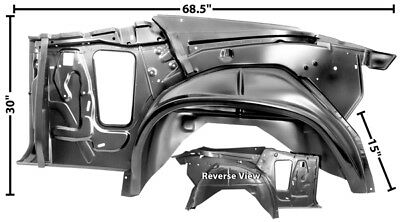 1970-72 Chevrolet Chevelle Convertible Quarter/ Wheelhouse Assembly - LH New