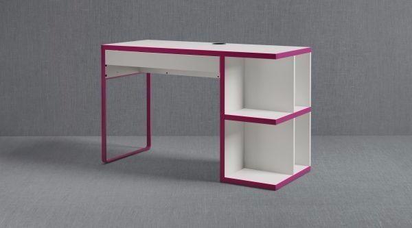 Ikea Desk W Integrated Storage White Pink 40