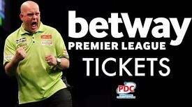 Premier League Darts Front Table Tickets - Barclaycard Arena Birmingham 27.4.17 Best Seats in Arena