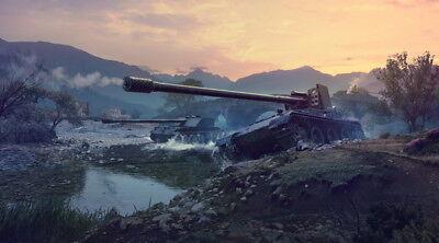 """017 World Of Tanks Centurion Overcast - Fight  Hot TV Game 43""""x24"""" Poster"""