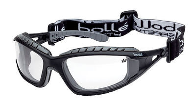 Bolle TRACKER II Safety Glasses Goggles Anti Mist Anti Scratch CLEAR TRACPSI