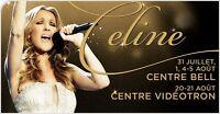 Céline Dion au Centre Bell PARTERRE JEUDI 5 AOÛT 2016
