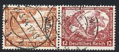D.Reich Zusammendruck W 57 gestempelt (44978)