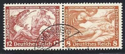 D.Reich Zusammendruck W 55 gestempelt (44976)