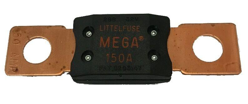 Mega Fuse 150 Amp Bolt Down M8 Red Copper Ends 12v 24v 32v Cargo 192051 788863064321