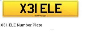 Private Personalised Number Plate Ellie, Elle, Elinor, Eleanor