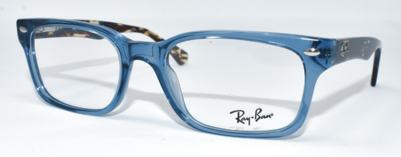0a39a67c33 NEW AUTHENTIC RAY BAN UNISEX EYEGLASSES RB5286 8024 TRANSPARENT BLUE HAVANA