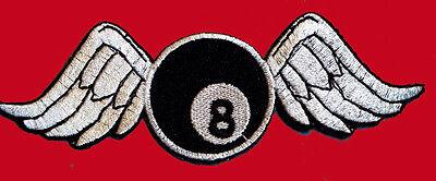Broken Wings 8 Ball Emroidered Jacket Vest Biker Patch